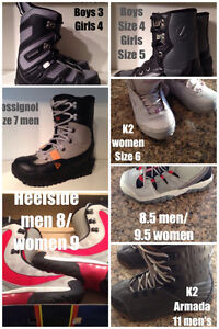Snowboard Boots Sizes 3 to 11