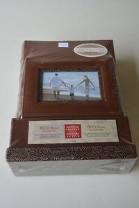 NEW PRICE  -  Handcrafted leather photo set - 2 albums  (BNIB)