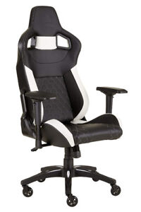 Corsair T1 Race Gaming Chair (Black and White)