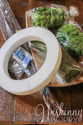 How To Make A DIY Reindeer Moss Wreath EBay
