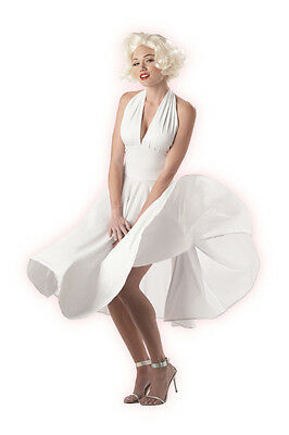 - Marilyn Monroe Famous White Halter Dress The 7 Year Itch Subway Grate Costume