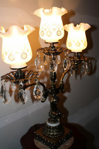 Vintage Brass, Marble and Crystal Lamp Kingston Kingston Area image 5