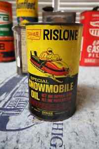 SHALER RISLONE SNOWMOBILE OIL TIN CAN UNOPENED