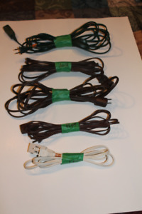 5 Light Duty Extension Cords - Various Lengths - ($20 for all 5)