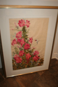 Original Alfoldy Watercolour Poppies Painting