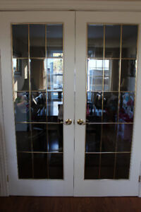 ***2 FRENCH DOORS 30X80 (BEVEL GLASS)***
