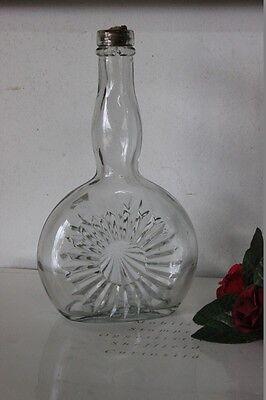 VECCHIA BOTTIGLIA IN VETRO BRANDY BARDINET  VINTAGE GLASS BOTTLE H cm 21