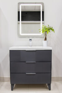 "32"" VANITY COMBO SET / FAUCET / LED MIRROR, SPECIAL PRICE."