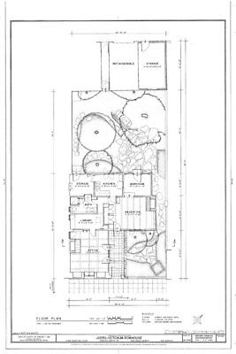 Mediterranean style patio home, courtyard bottom plan, architectural blueprints