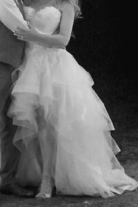 Robe de mariée et voile cathédrale