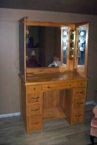 Homemade Pine Vanity Dressing Table
