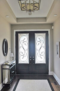 Frosted Wrought Iron Door Inserts