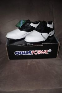 """BNWT, """"Obusforme"""" Ladies, All Grain Leather Golf Shoes"""