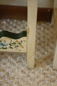 Two Handpainted Floral Child's/Doll Chairs Peterborough Peterborough Area image 3