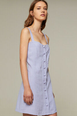 Rita Row Linen Lavender Summer Casual Sleeveless Mini Dress Sizes Small - Casual Lavender Dress