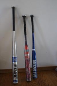 3 Aluminum bats for sale
