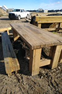 Garden picnic table and bench. Heavy duty.