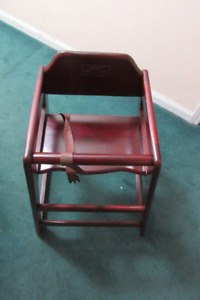 Beautiful Mahogany High-Chair NEVER USED