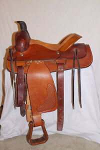 "16"" Roping saddle Princeton B.C."