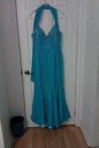 Robe de bal bleu turquoise - Gr. 16 - Jamais portée