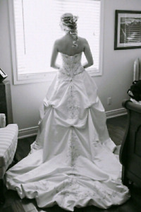 Wedding gown-Long Train- Used once
