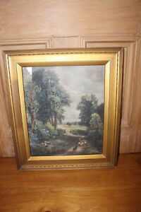 "Old John Constable Print ""The Corn Field"""