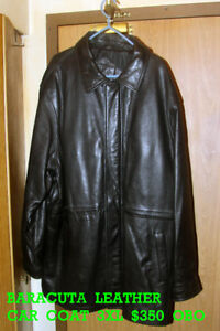 BARACUTA  LEATHER  CAR  COAT