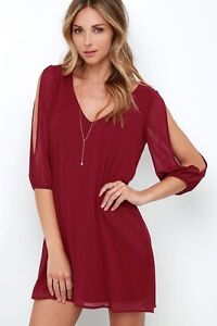 Dress - Long sleeve, wine dress (XS - S)