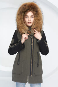 Brand New Women 2 in 1  Down Parka Jacket Fur Hood Various Sizes