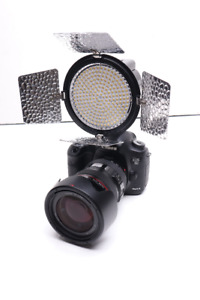 On-Camera LED Light + Rechargeable Battery & Charger Included!!