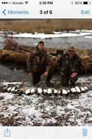 Guided waterfowl hunts in southern Ontario