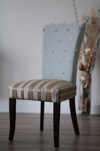 Soft pastel blue accent chair for living room