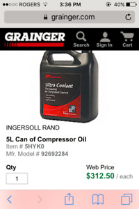 Ingersoll Rand Ultra Coolant Compressor oil