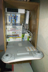 Wii lot with fit board and a lot of games motion plus controller
