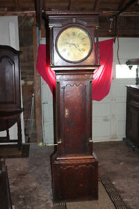 Antique Oak Cottage Grandfather Clock circa 1775 Collier