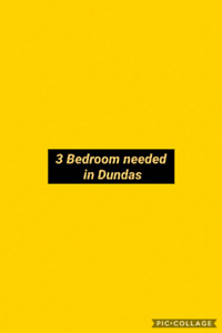 Looking for a 3 bedroom in Dundas..