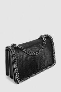 60% OFF BRAND NEW ZARA CHAIN EMBOSSED BAG BLACK - $60