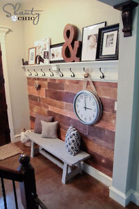 Distressed BARN WOOD for accent walls!