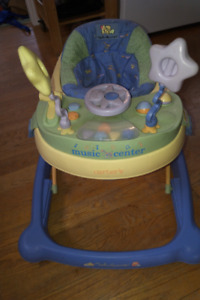 Baby walker with music center