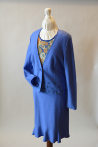 2Pc Boiled Wool Suit (size 14)