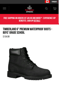 Timberland boots size 4 boys