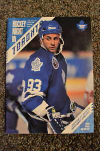 Vintage Toronto Maple Leafs and Montreal Canadiens programs