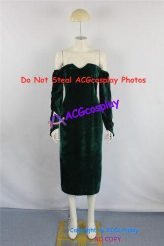 Fullmetal Alchemist Lust Cosplay Costume dark green velvet fabric made