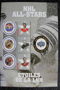 NHL ALL STARS CANADIAN STAMPS MINI SHEET