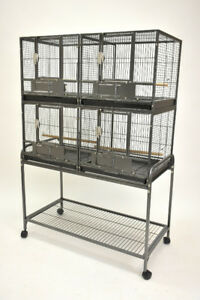 Deluxe Double Stacked Breeding Cage for Small Medium Bird Parrot