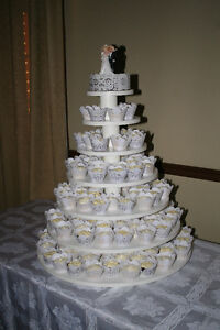 """Mariage, noces, caroussel, stand a cupcakes 38"""" x 37"""", tournant"""