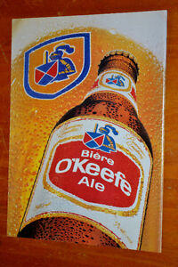 ANONCE 1987 BIERE OKEEFE ALE FRENCH BEER AD - VINTAGE RETRO