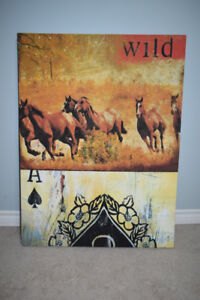 unique horse print wild horses ace of spades playing cards
