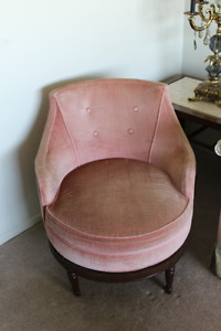 Classic Swivel Chair with Footstool