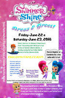 Shimmer and Shine Dress and Greet
